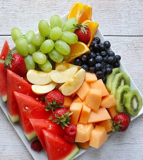 Fresh Fruit Platter! Such an easy snack!