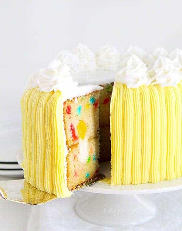 Surprise Inside Funfetti Cake from iambaker.net