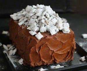 Puppy Chow Cake