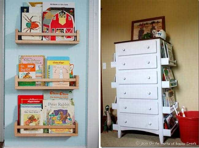 Great Ideas for Book Storage!