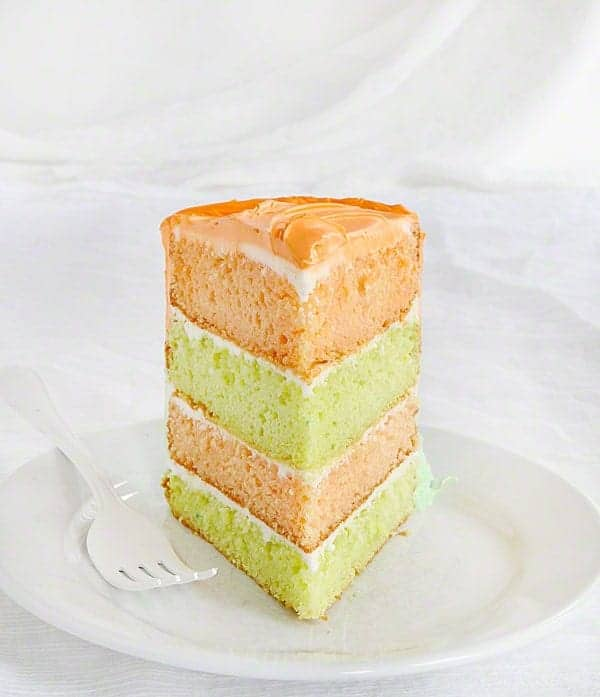 Spring Cake! Lime and Orangesicle layers of beauty!