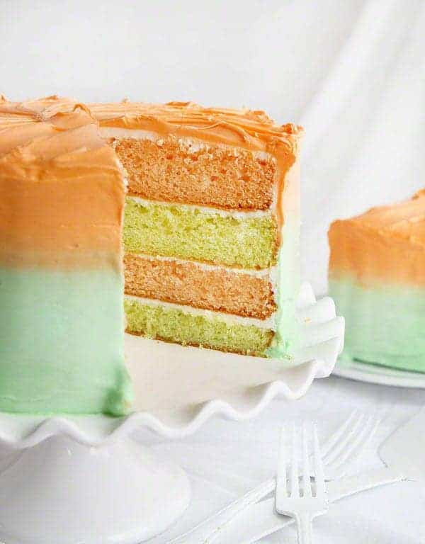 Key Lime and Orangesicle Layer Cake