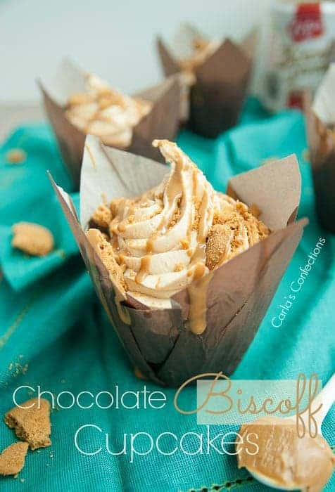 Chocolate Biscoff Cupcakes