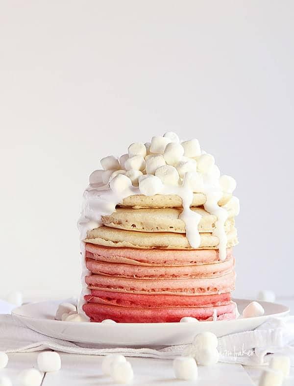 Pink Pancakes from iambaker.net