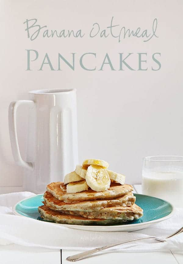 Banana Oat Pancakes #recipe #breakfast