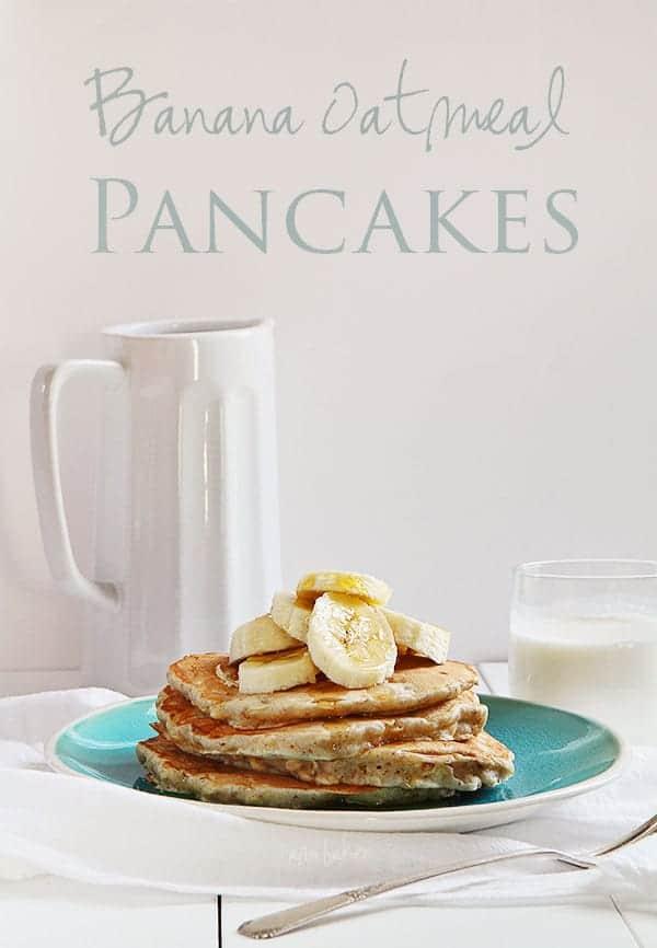 Banana Oat Pancakes #recipe #breakfast