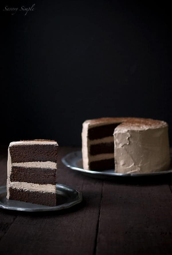 Chocolate Espresso Cake from SavorySimple.net
