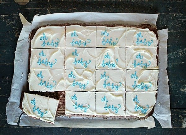 Texas Sheet Cake for a Baby Shower