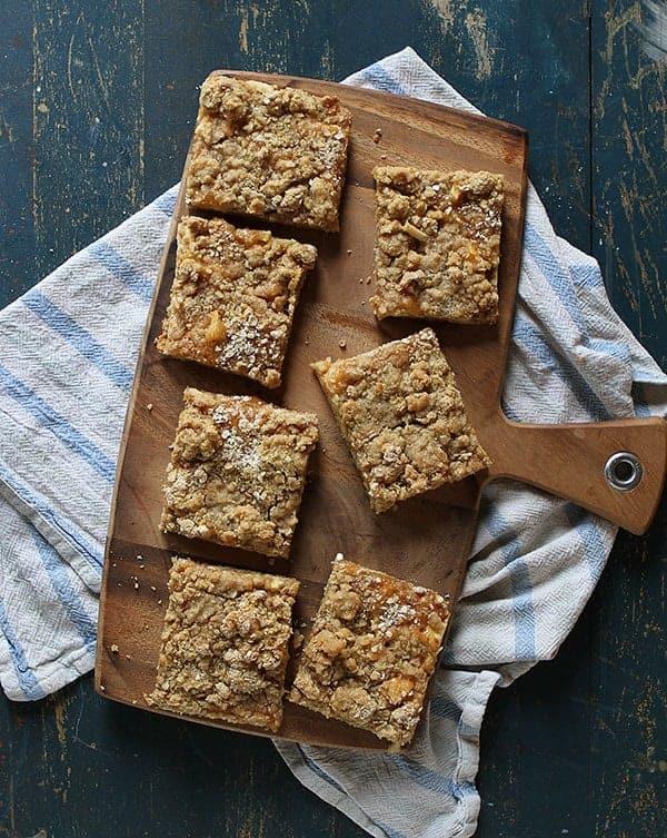 Oatmeal Caramel Apple Pie Bars