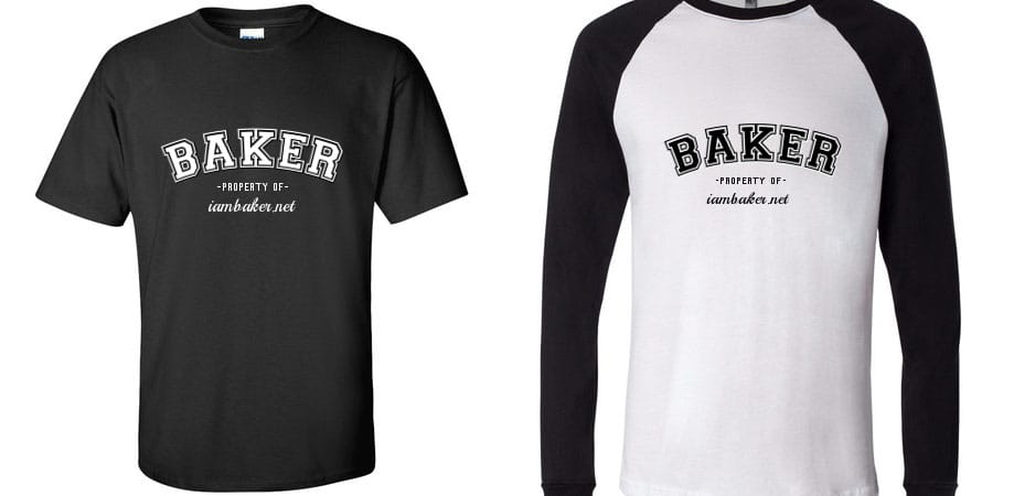 Custom t-shirts for iambaker.net from whoopee.com