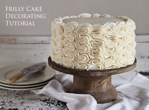 The Frilly Cake: Full Decorating Tutorial from iambaker.net #frillycake