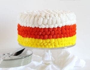 Candy Corn Cake {cake decorating tutorial}