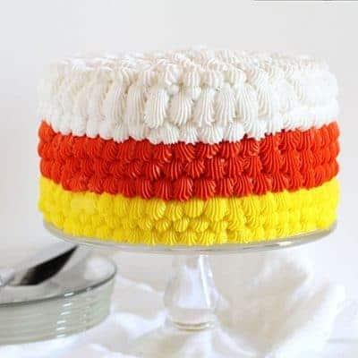 Candy Corn Cake & cake decorating tutorial! #cakedecorating #halloween #cake