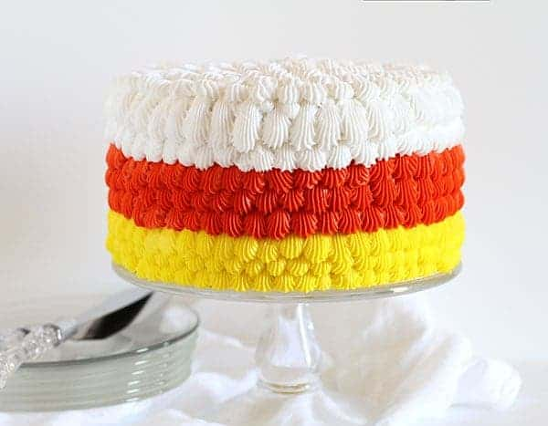 Candy Corn Cake & cake decorating tutorial! #cakedecorating #halloween #cake