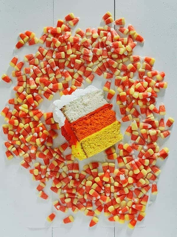 Candy Corn Cake! #halloween #cakedecorating #buttercream #cake