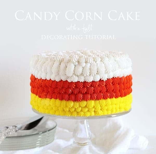 Candy Corn Cake! #halloween #cakedecorating #buttercream #cake