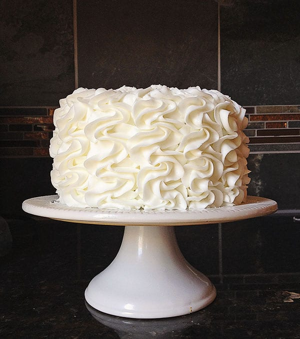 Frilly Fluffy Cake!  Full tutorial from iambaker.net #frillycake