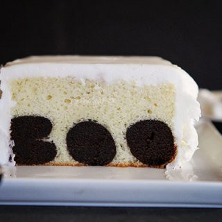 BOO surprise inside cake tutorial
