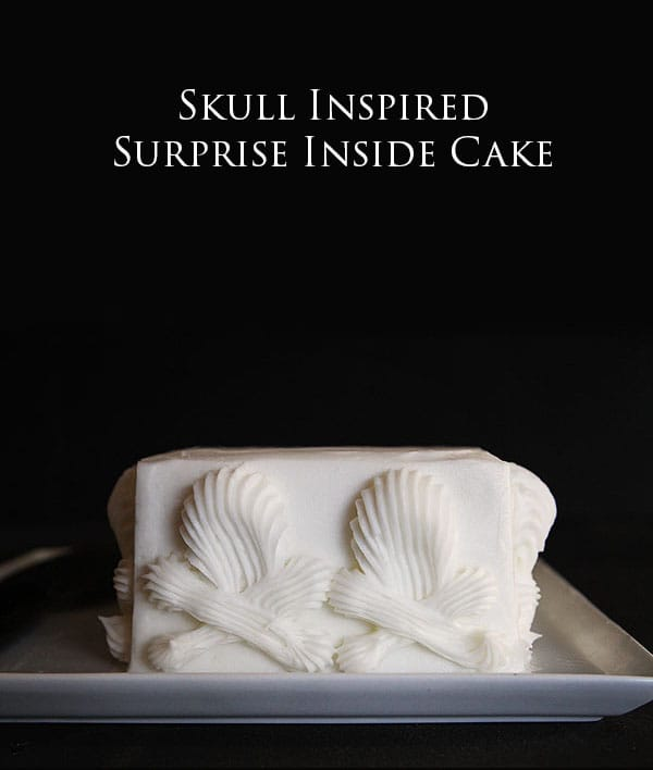 Skull Surprise Inside Cake! #halloween #cake #surpriseinsidecakes