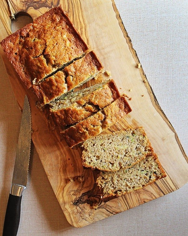 Zucchini Oatmeal Banana Bread