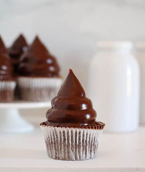 Surprise Inside Hi-Hat Cupcakes from iambaker.net! #cupcakes #chocolate #surpriseinside