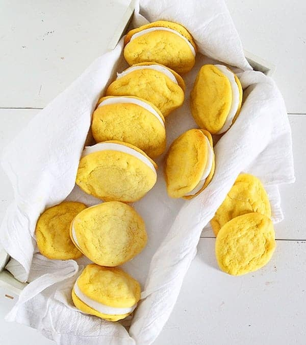 Lemon Sugar Cookie Sandwich Cookies