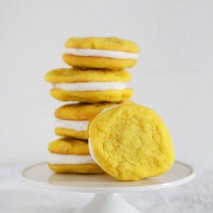 Lemon Sugar Cookie Sandwiches