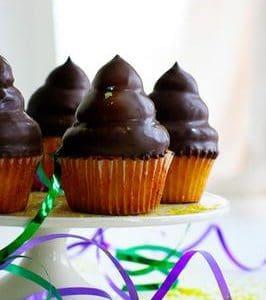 Mardi Gras Hi-Hat Cupcakes