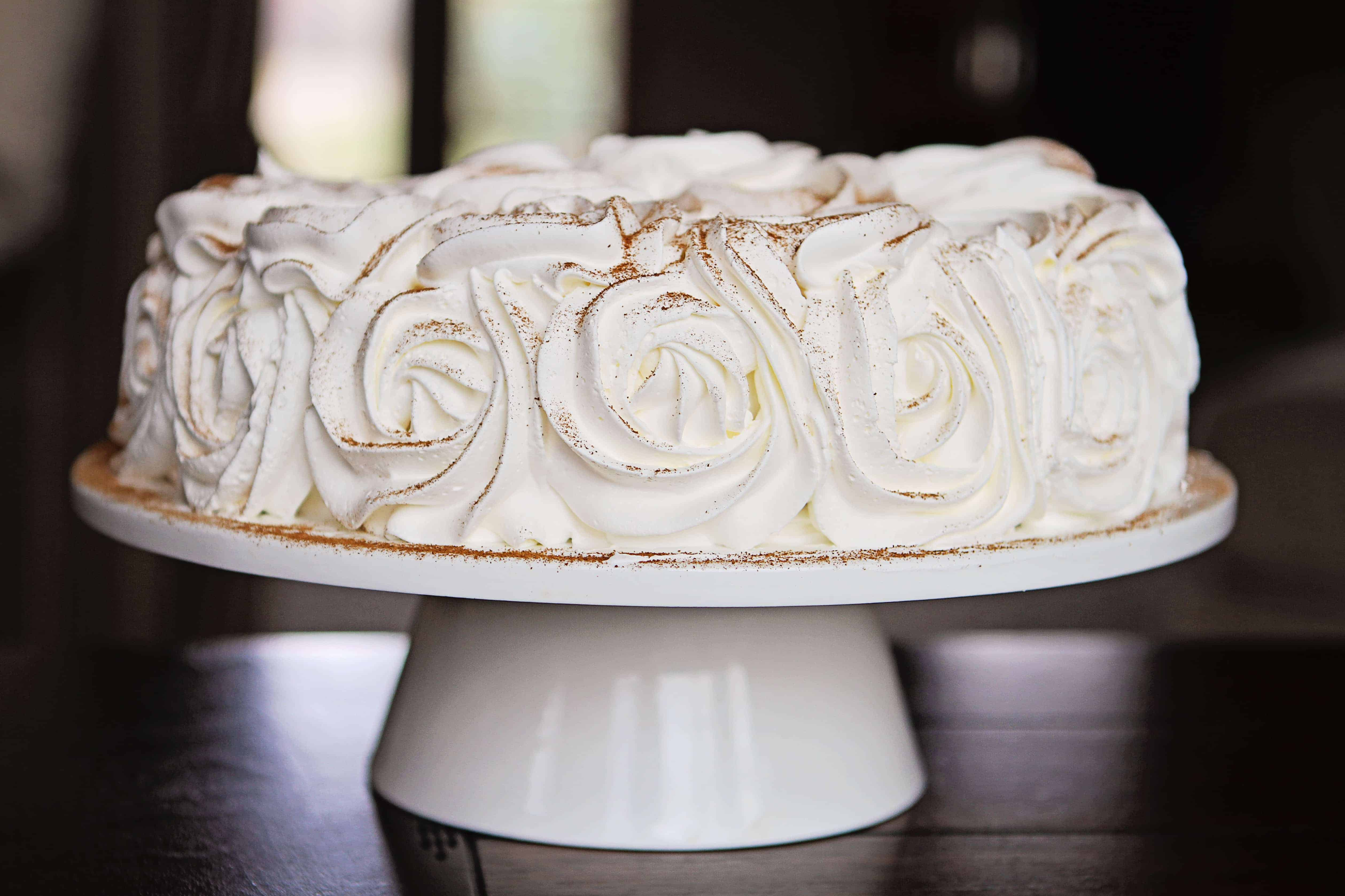 Pumpkin Pie Rose Cake from iambaker.net #cake #pumpkinpie