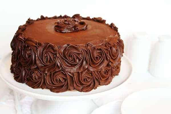 Chocolate Rosette Cake with the BEST chocolate cake recipe!