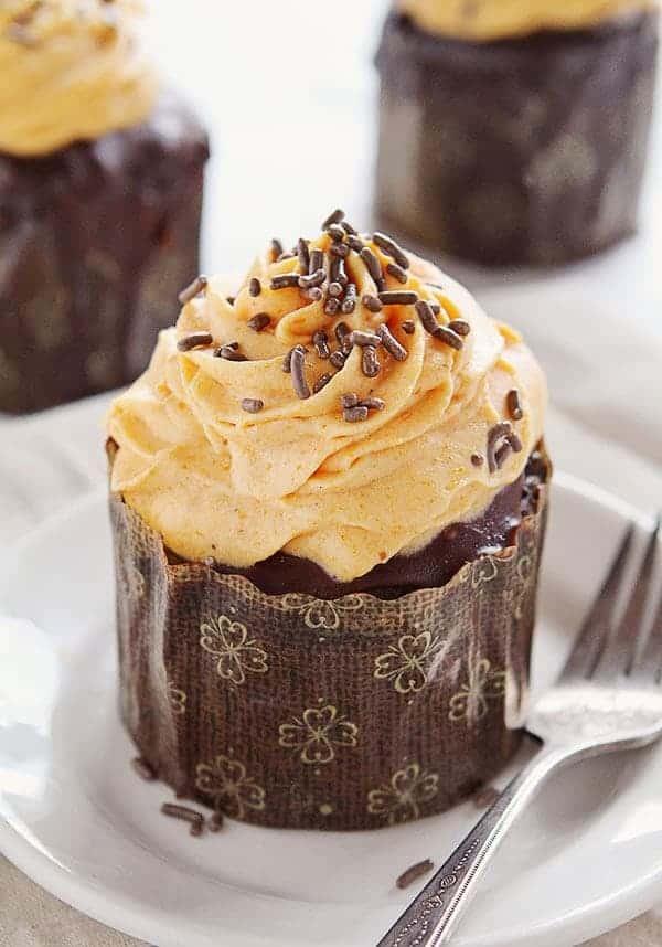 Chocolate Pumpkin Cupcakes With Pumpkin Whipped Cream I
