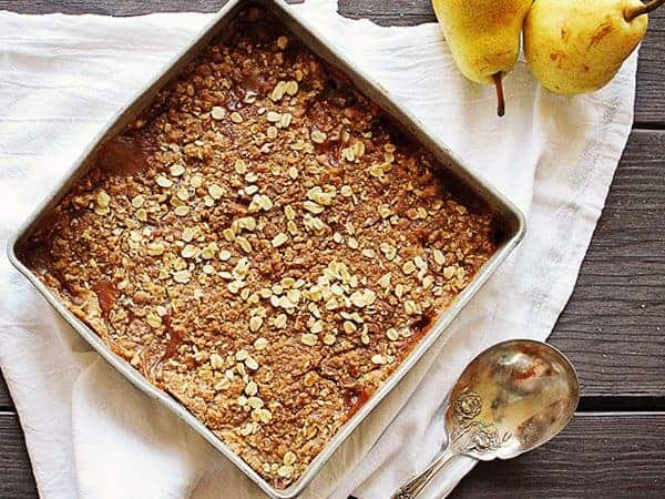 best gingered pear crisp