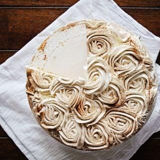 Pumpkin Pie Rose Cake