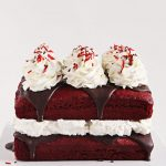 Red Velvet Cake with Peppermint Whipped Cream