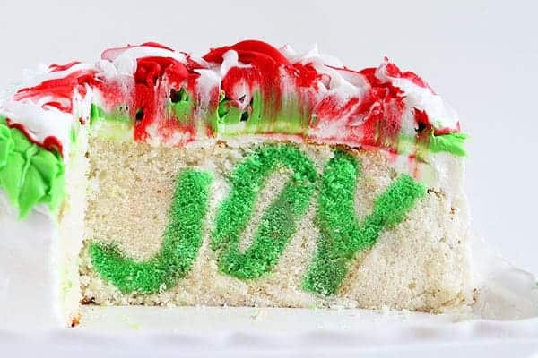 Christmas JOY Surprise Inside Cake #surpriseinside