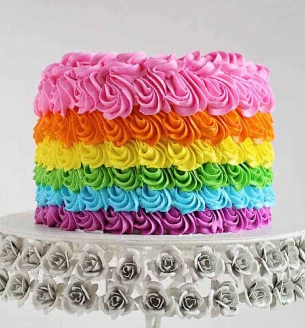 Terrific Rainbow Birthday Cake I Am Baker Funny Birthday Cards Online Elaedamsfinfo