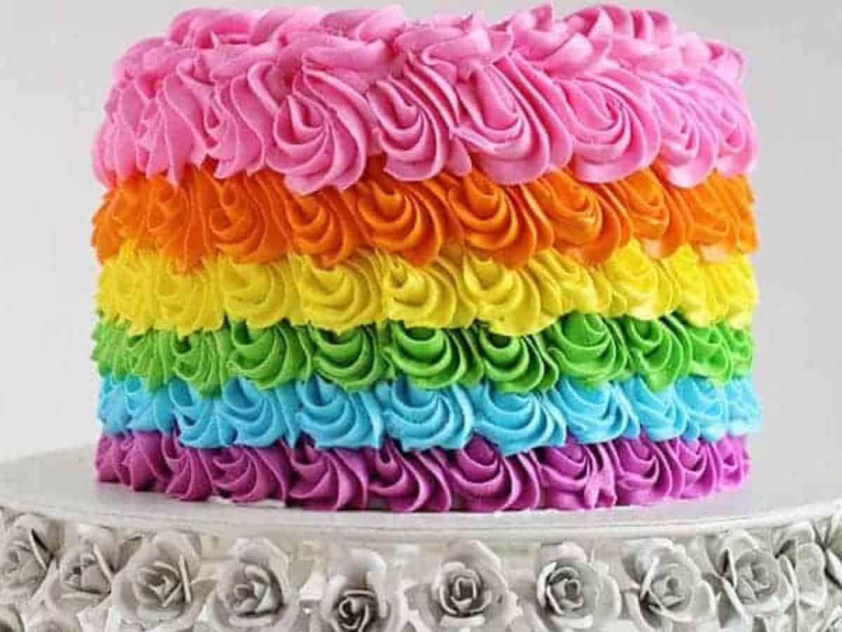Strange Rainbow Birthday Cake I Am Baker Funny Birthday Cards Online Alyptdamsfinfo