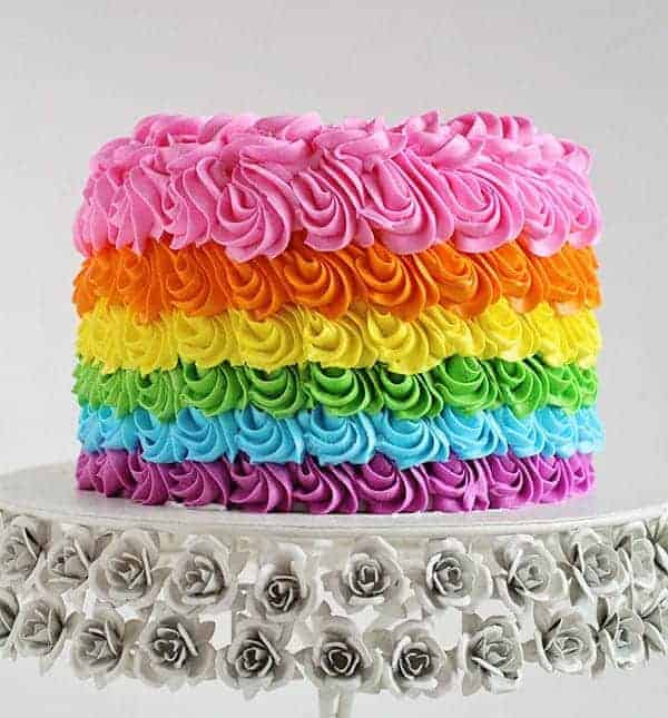 Rainbow Birthday Cake - i am baker