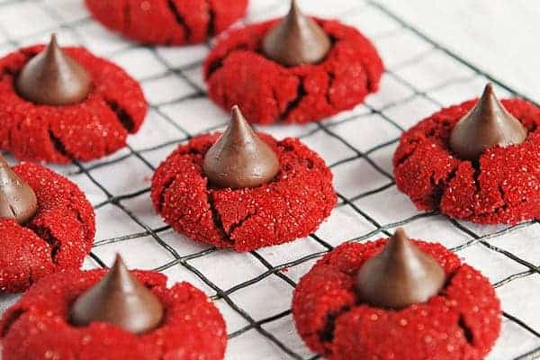Red Velvet Peanut Butter Blossoms