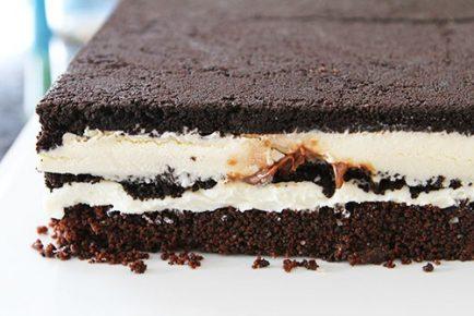 Oreo Cream Cheese Brownie Ice Cream Cake