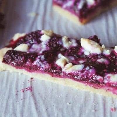 rustic blueberry tart