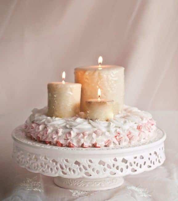Candle Rose Surprise Inside Cake from iambaker.net