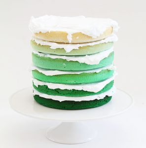 How to Make a Green Ombre Layer Cake!