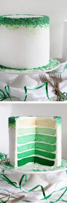 Green Ombre Cake!