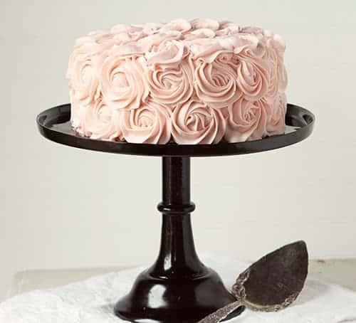 Pink Rose Cake ~ #rosecake #original #rosettecake #iambaker