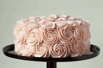 Pink Rose Cake ~ #rosecake #original #rosettecake