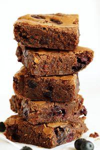 Decadent Blueberry Brownies! #fudgey #chocolate #brownie