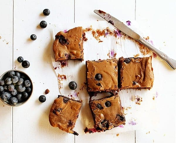 Decadent Blueberry Brownies! #fudgey #chocolate #brownie