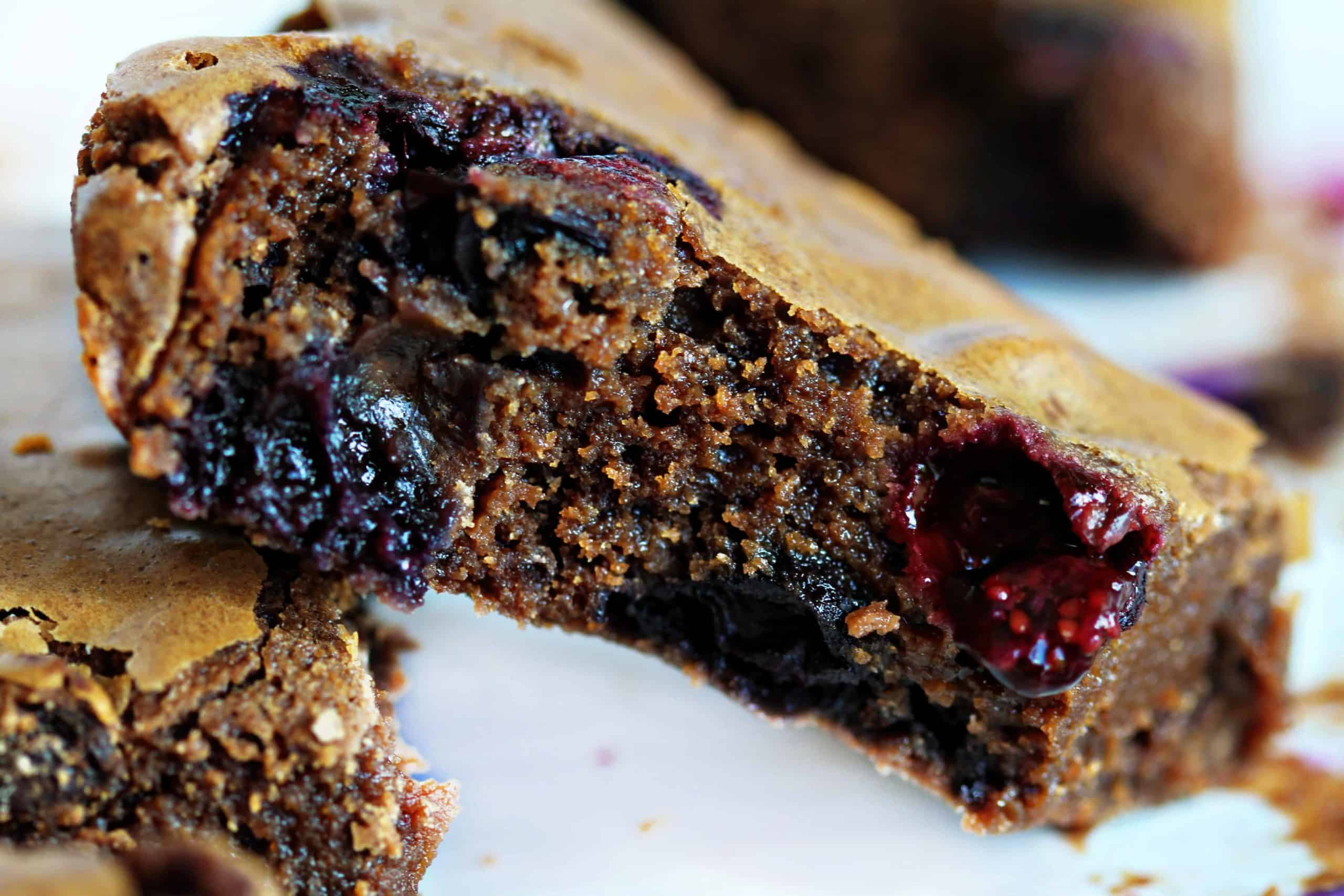 One Blueberry Brownie