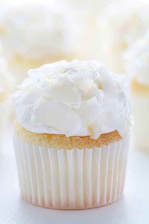 Coconut Angel Food Cupcakes! - i am baker